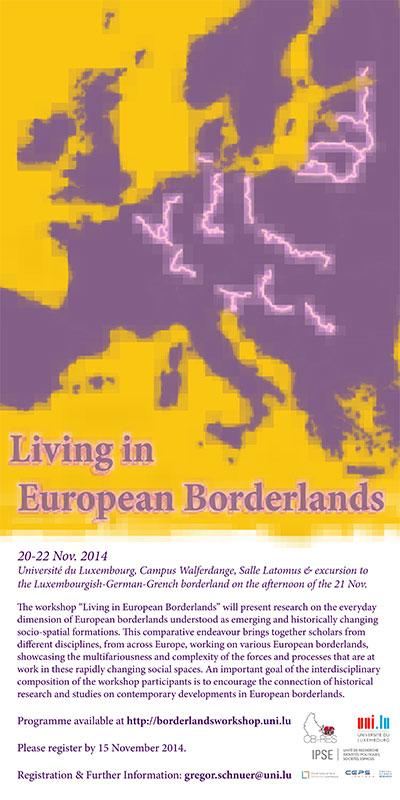 """""""Living in European Borderlands"""" poster"""